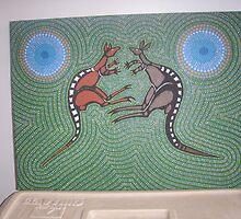 Fighting Kangaroos by Derek Trayner