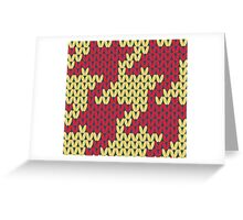 Faux Knit Houndstooth Greeting Card