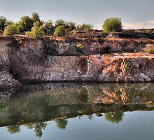 Cobar Reflections - NSW Australia by Phil Woodman