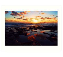 Alex Heads Sunrise Art Print