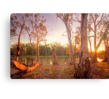 River Murray Sunset II - Renmark, South Australia Canvas Print