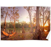 River Murray Sunset II - Renmark, South Australia Poster