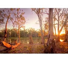 River Murray Sunset II - Renmark, South Australia Photographic Print