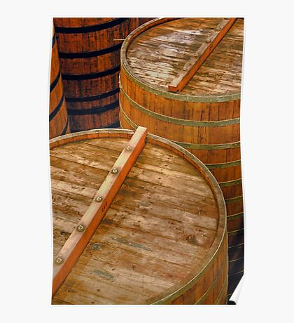 Aging Vats, Sterling Winery, Napa Valley, California Poster
