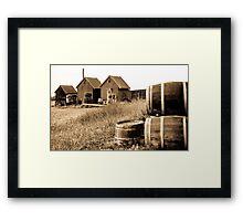 Tinted Barrels Framed Print