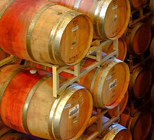 Aging Barrels, Sterling Winery, Napa Valley, California by Brendon Perkins