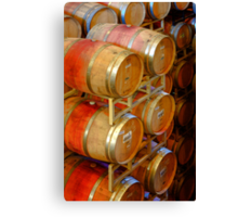 Aging Barrels, Sterling Winery, Napa Valley, California Canvas Print