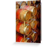 Aging Barrels, Sterling Winery, Napa Valley, California Greeting Card