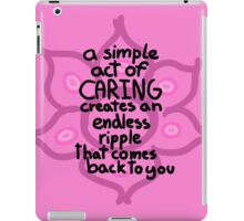 Caring iPad Case/Skin