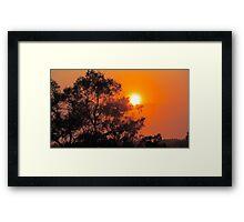 Setting Sun & it's Abundance of Energy  Framed Print