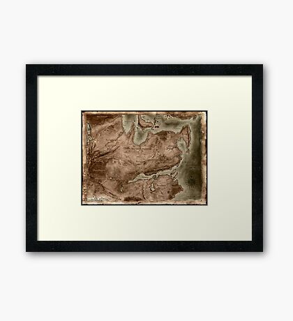 A Map of Known Thedas Framed Print