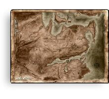 A Map of Known Thedas Canvas Print