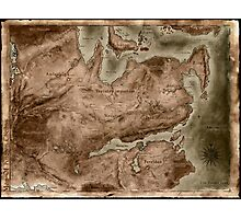 A Map of Known Thedas Photographic Print