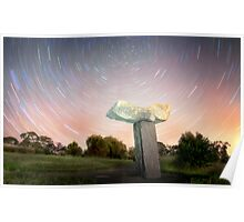 Statue Star Trails Poster
