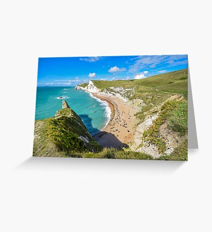 View from the top of Durdle Door, Dorset, UK Greeting Card