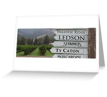 Sign Post, Sonoma County, California Greeting Card
