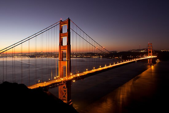 Golden Gate Bridge at Dawn, San Francisco, California by Brendon Perkins