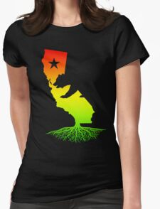 California Roots (rasta surfer colors) Womens Fitted T-Shirt