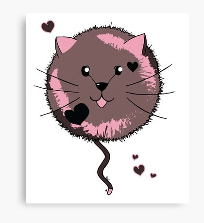 Kawaii Cat Ball Canvas Print