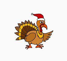 Funky Cool Turkey with Santa Hat Christmas Art Unisex T-Shirt