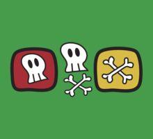 Cartoon Skulls and Bones Kids Tee