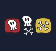 Cartoon Skulls and Bones One Piece - Short Sleeve