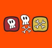 Cartoon Skulls and Bones T-shirt Kids Clothes