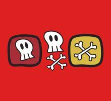Cartoon Skulls and Bones Baby Tee