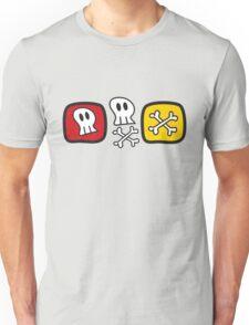Cartoon Skulls and Bones Unisex T-Shirt
