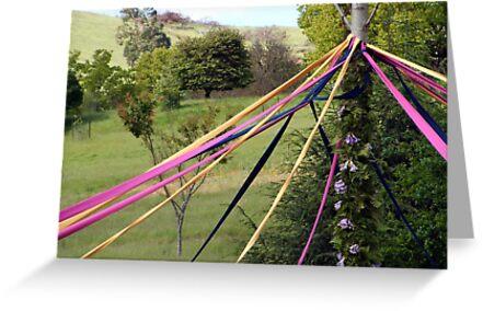 Maypole - Spring Picnic - Sue Dennis by Golden Valley Tree Park