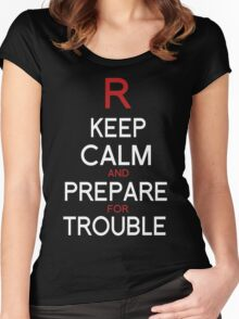 Keep Calm and Prepare for Trouble.   Women's Fitted Scoop T-Shirt