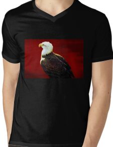 Tee:  Bald Eagle Mens V-Neck T-Shirt