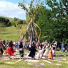 Maypole Dancing - Spring Picnic - Sue Dennis by Golden Valley Tree Park