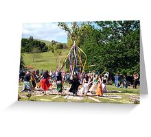 Maypole Dancing - Spring Picnic - Sue Dennis Greeting Card