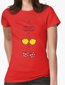 Fun Cute Cheeky Cherries Trio Womens Fitted T-Shirt