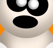 Cute Angry Ghost - Orange Sticker