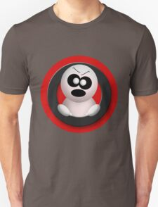 Cute Angry Ghost - Red T-Shirt