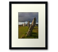 Callanai Leaning Stone Framed Print
