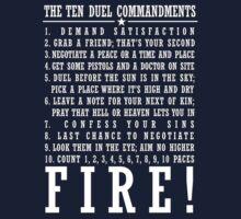 Ten Duel Commandments - Dark Kids Tee