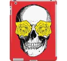 Skull & Roses - Red & Yellow iPad Case/Skin