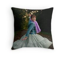 Twirl! Throw Pillow