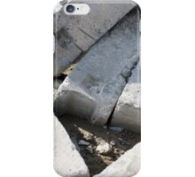 Large concrete building blocks closeup iPhone Case/Skin