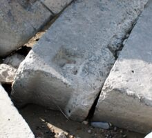 Large concrete building blocks closeup Sticker