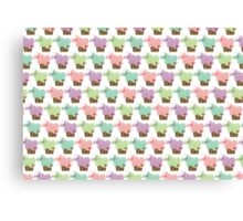 Sweet Pastel Cupcakes Canvas Print