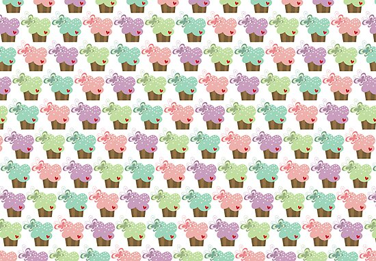 Sweet Pastel Cupcakes by fatfatin