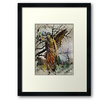 An Angel Leads The Way From Darkness To Light Framed Print
