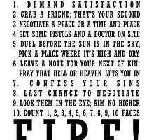 Ten Duel Commandments by rosabelledraws