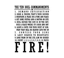 Ten Duel Commandments Photographic Print