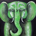 Jade Elephant by whittyart