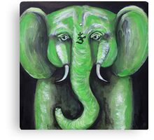 Jade Elephant Canvas Print